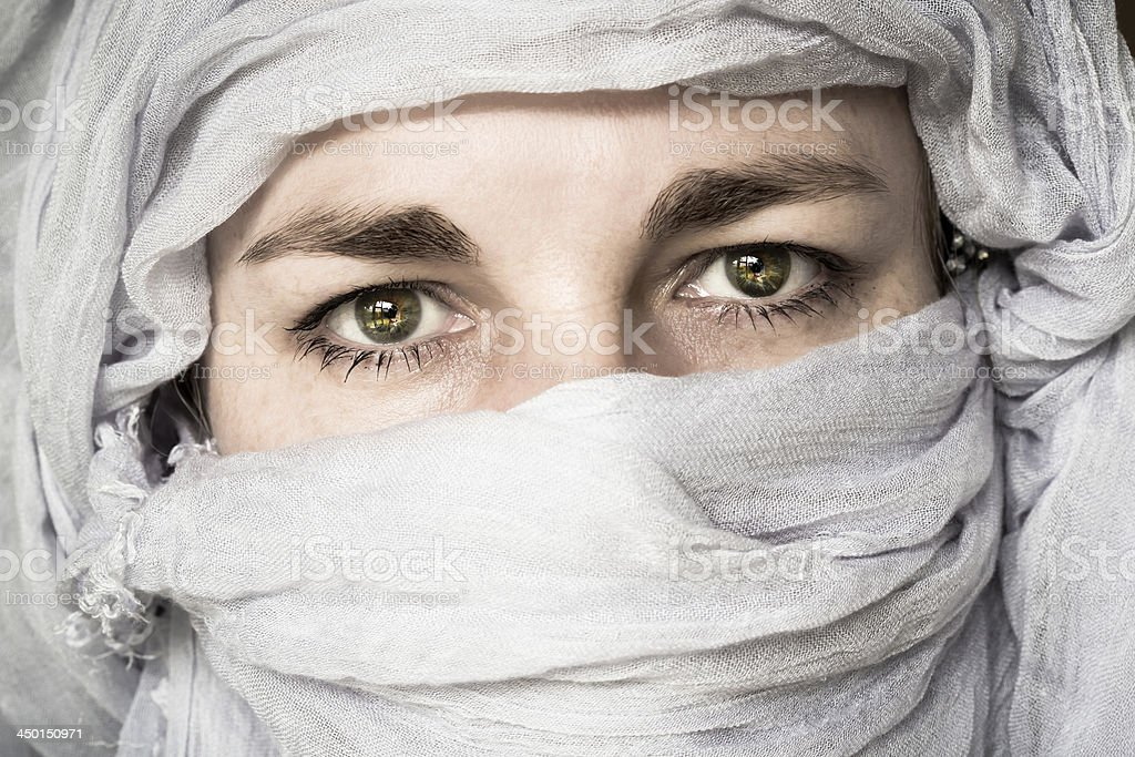 Covered woman stock photo