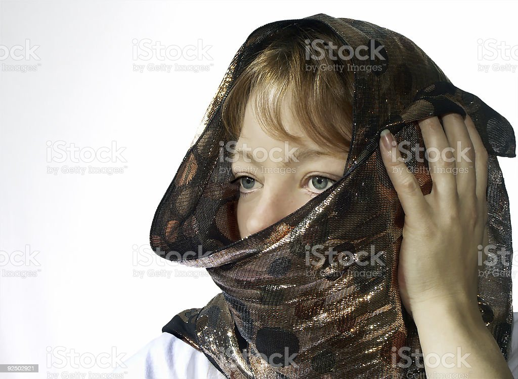 covered woman royalty-free stock photo