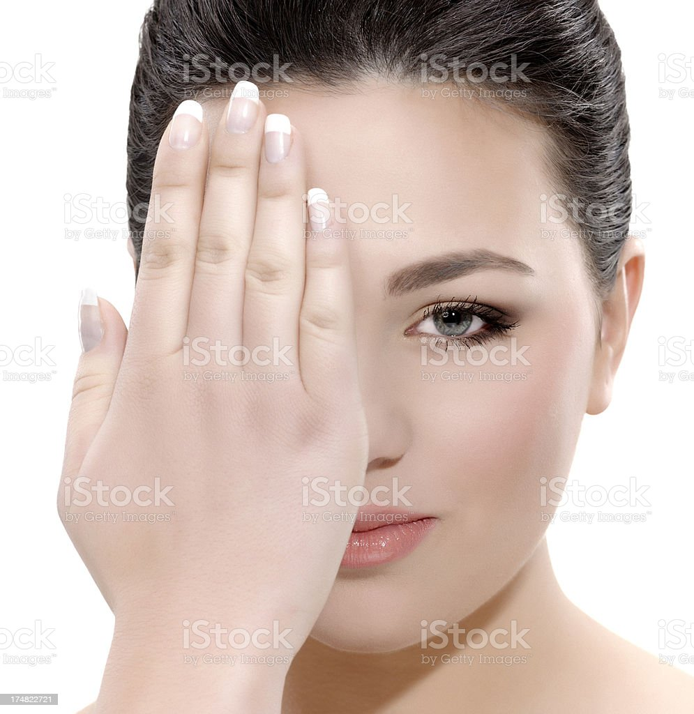 covering eye royalty-free stock photo