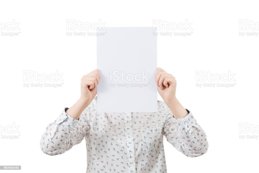 covering  face stock photo