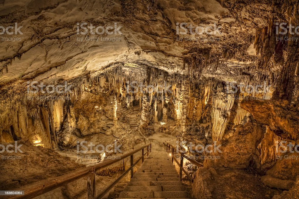 Coves d'Arta - stalactite cave stock photo