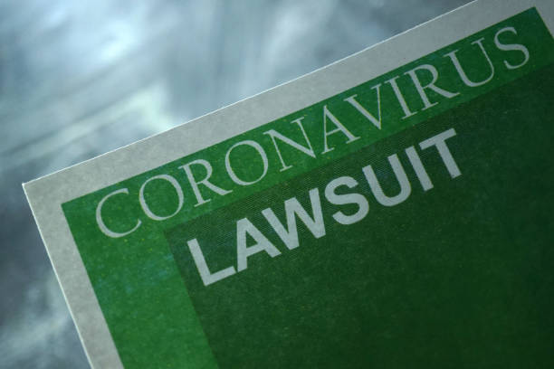 Covid 19 lawsuit shot of coronavirus lawsuit stock pictures, royalty-free photos & images