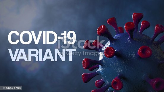 Covid british and england variant, covid-19 virus with english flag.