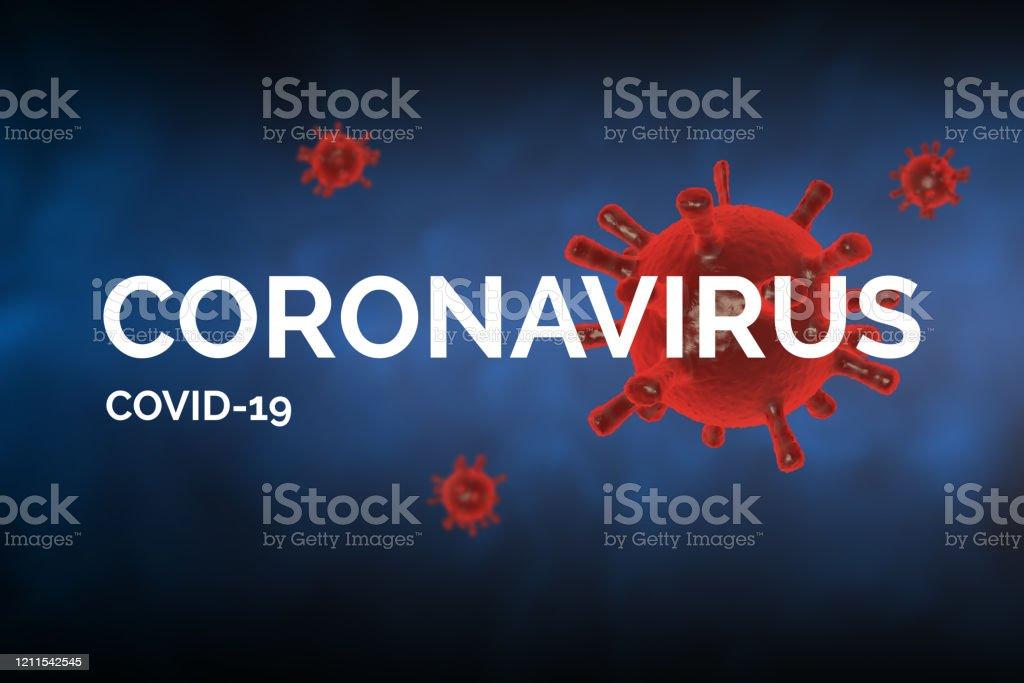コロナウイルス Covid19テキスト付き Covid19 コンセプトイメージ - 3D ...