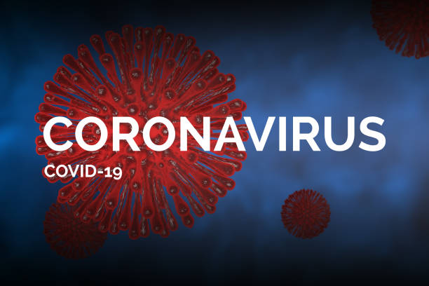 "covid-19 concept afbeelding met ""coronavirus covid-19"" tekst - covid icons stockfoto's en -beelden"
