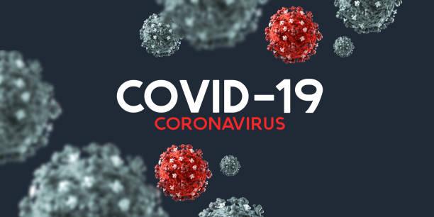 Covid-19 Coronavirus Hintergrund und Text – Foto