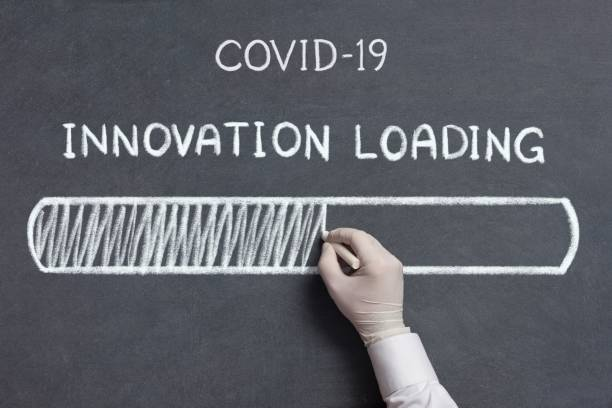 Covid-19 Innovation Loading Concept stock photo
