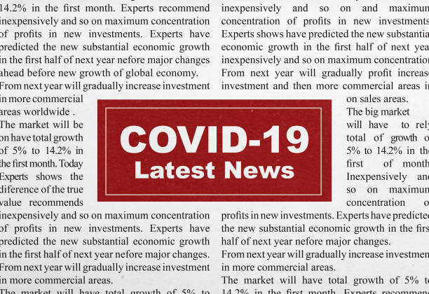 Covid-19 latest news headline stock photo
