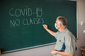 istock Covid-19! No classes! 1245377182