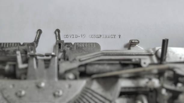 covid-19 outbreak - conspiracy стоковые фото и изображения