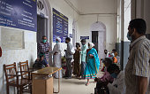 istock Covid19 patients in line at Hospital in Mysore/India. 1253845945