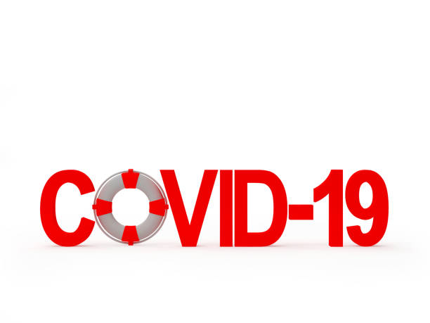 Covid-19 red icon coronavirus and lifebuoy Covid-19 red icon coronavirus and lifebuoy isolated on white background. 3D illustration covid icon stock pictures, royalty-free photos & images