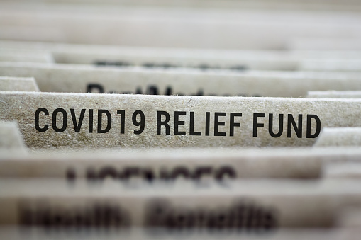 Covid-19 relief file folder