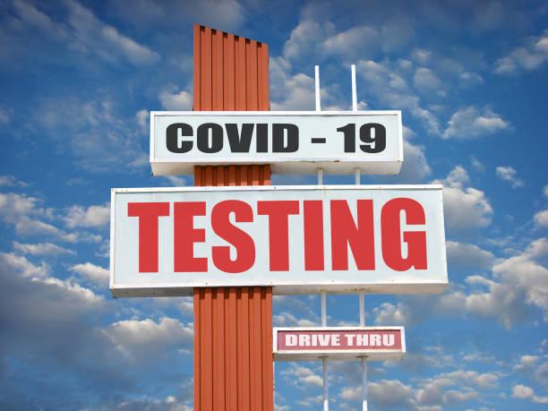 Covid-19 testing stock photo