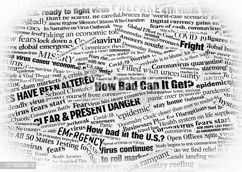 a collection of real US Newspaper headlines clipped and made into a collage with a little creative editing to give a high contrast edgy look