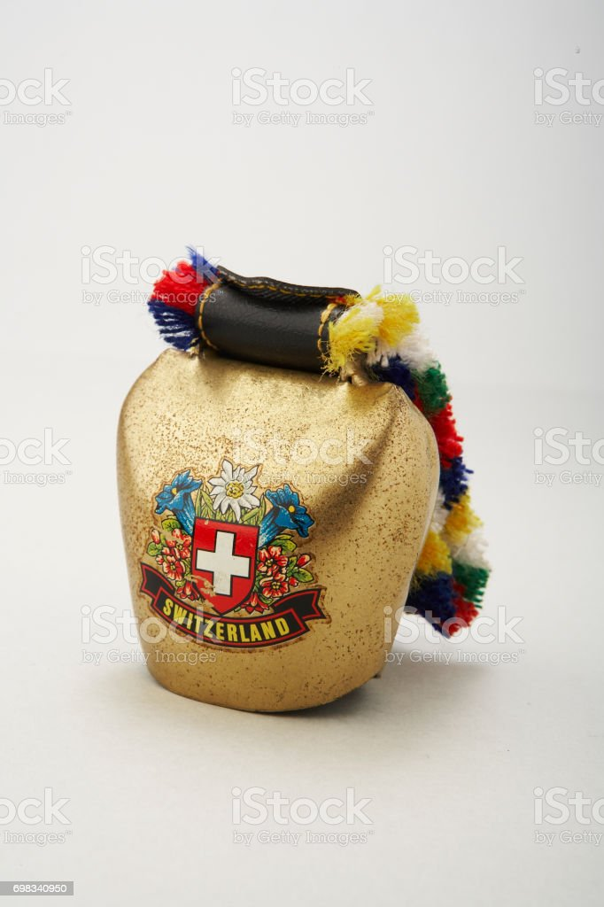 Cow bell, souvenir from Switzerland stock photo