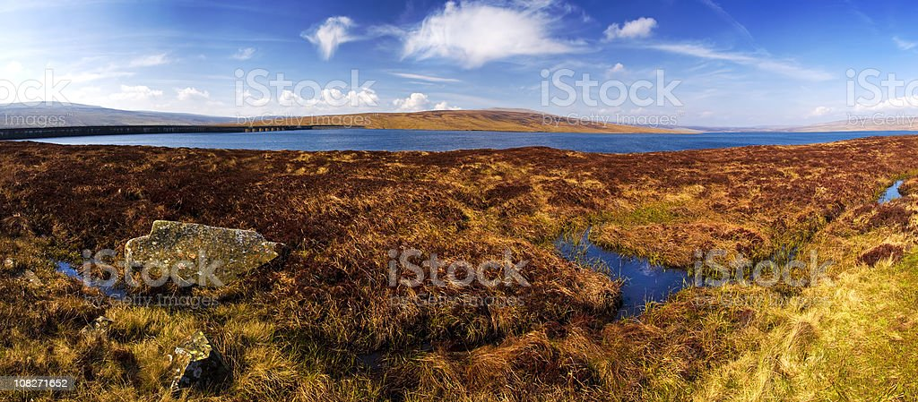 Cow Green Reservoir in Wilderness (XXL) royalty-free stock photo