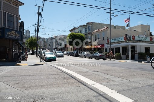 San Francisco, California, United States - August 28, 2016:  Cow Hollow neighborhood of San Francisco, California, August 28, 2016