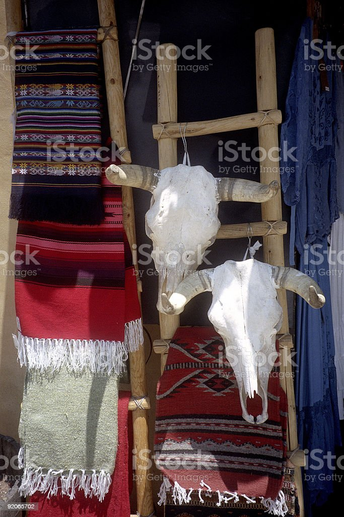 Cow Skulls-Old Town royalty-free stock photo