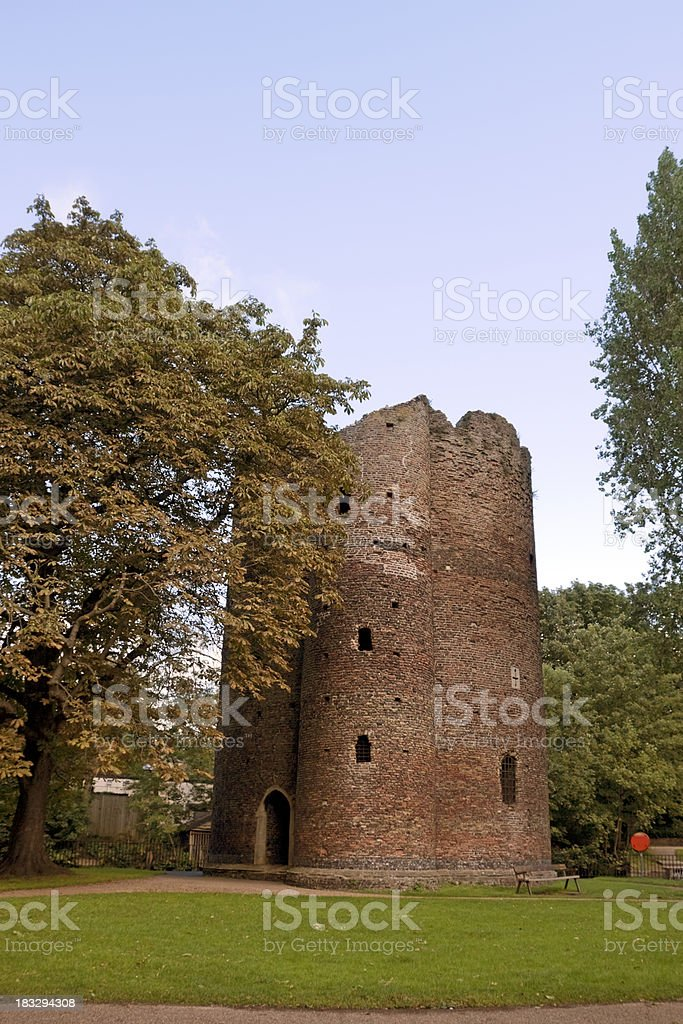 Cow Tower, beside the River Wensum, Norwich stock photo