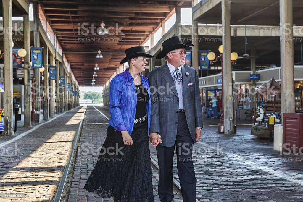 Cowboy and Cowgirl stock photo