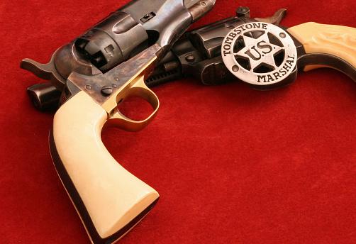 Cowboy Badge and guns