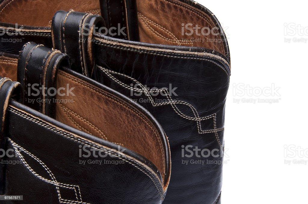 Cowboy Boot Border royalty-free stock photo