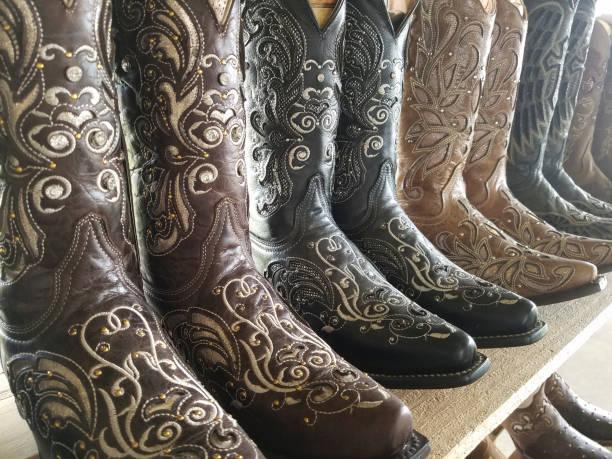 Cowboy-Stiefel zum Verkauf in Texas Shop. – Foto