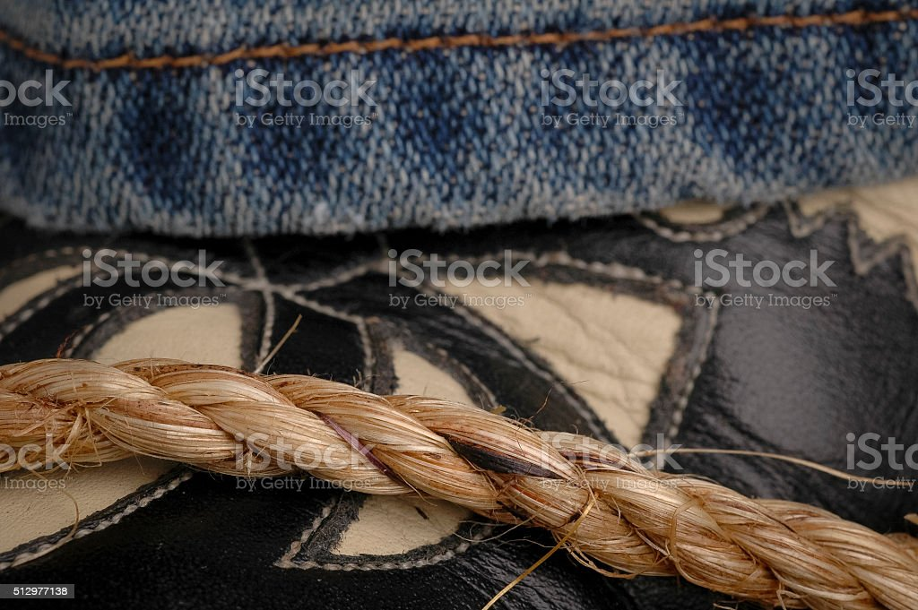 Cowboy Boots Jeans and Boots stock photo