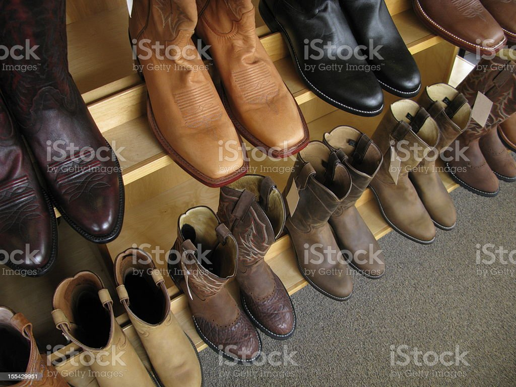 Cowboy Boots Leather Shoes royalty-free stock photo