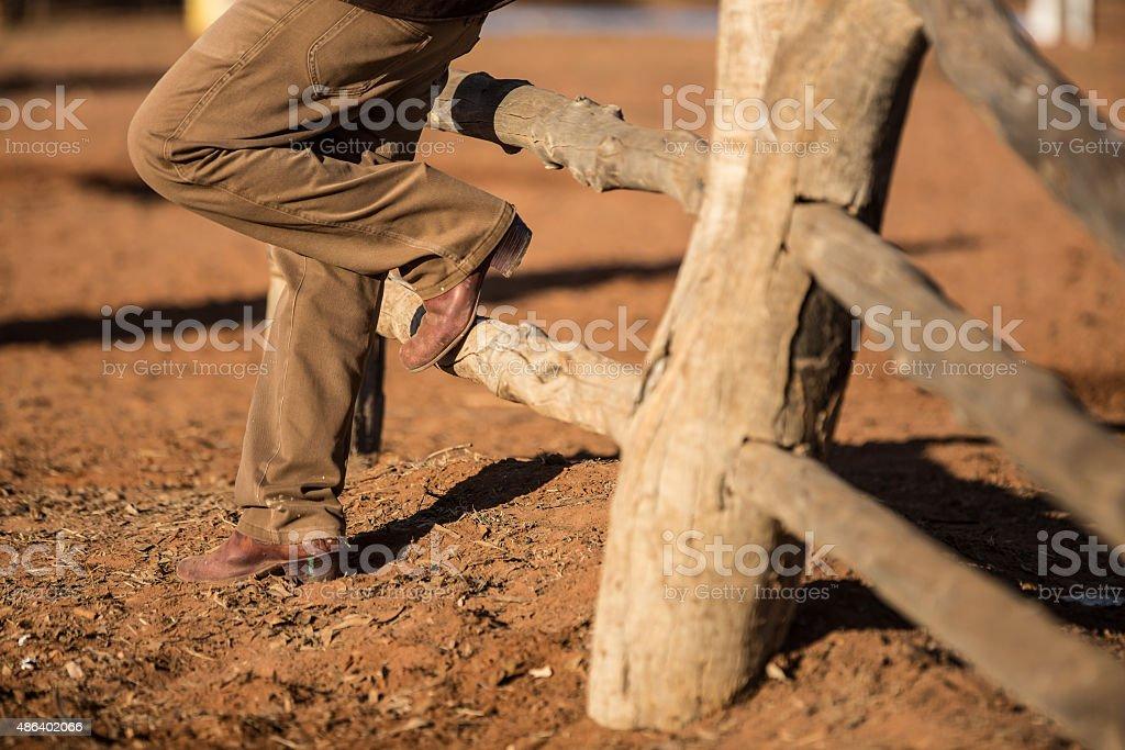 cowboy boots stock photo