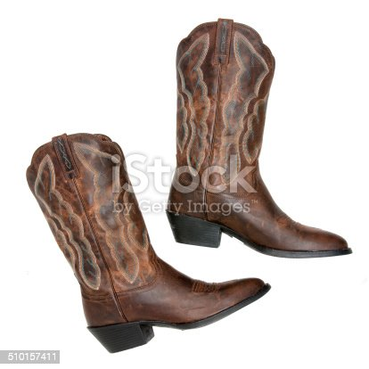 Ladies Cowboy Boots on White