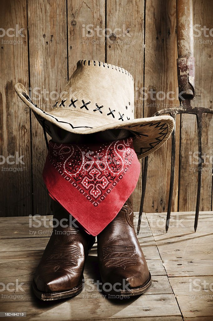 cowboy boots portrait royalty-free stock photo