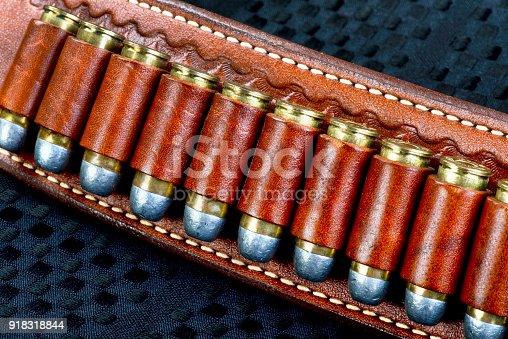 Cowboy gun belt full of 45 bullets.