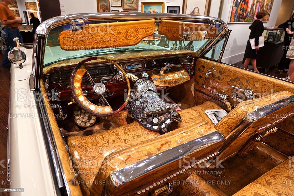 cowboy car stock photo