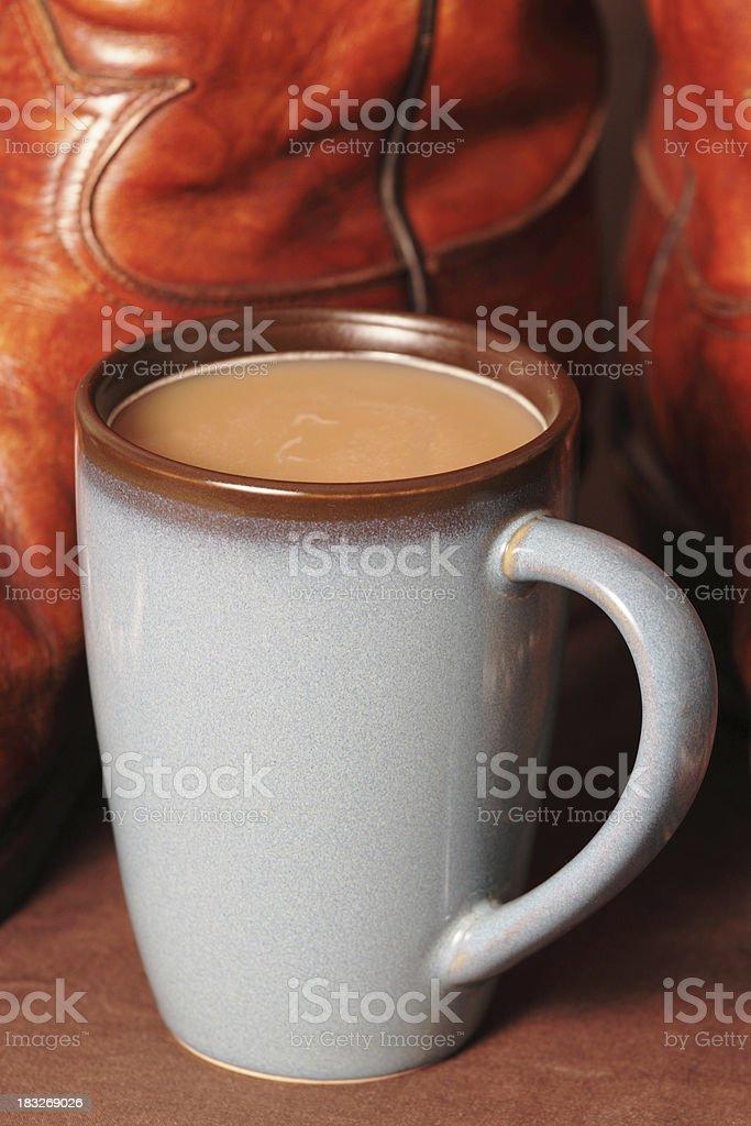 Cowboy Coffee stock photo
