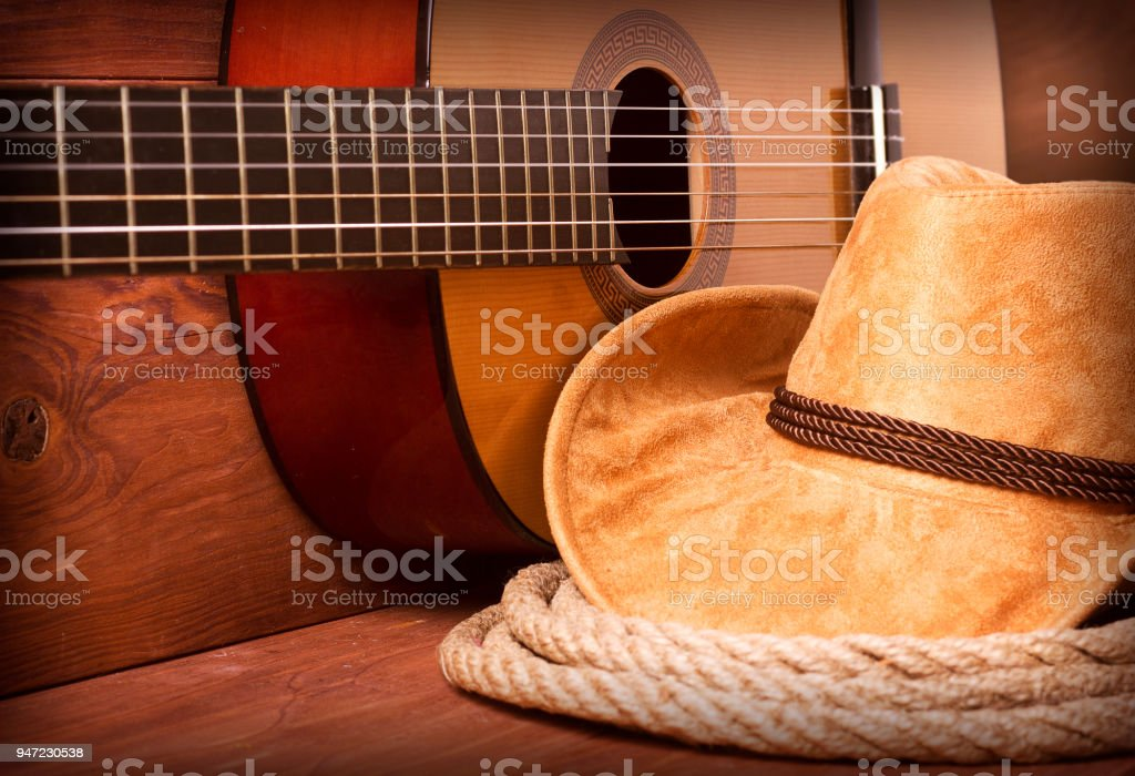 Cowboy country music stock photo