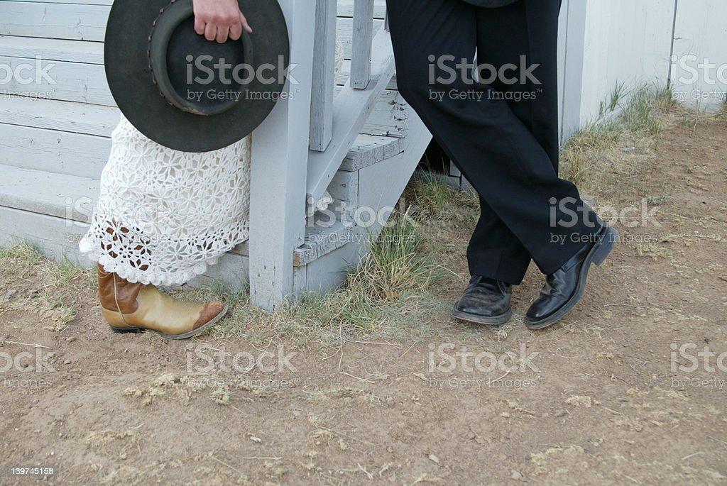 Cowboy couple royalty-free stock photo