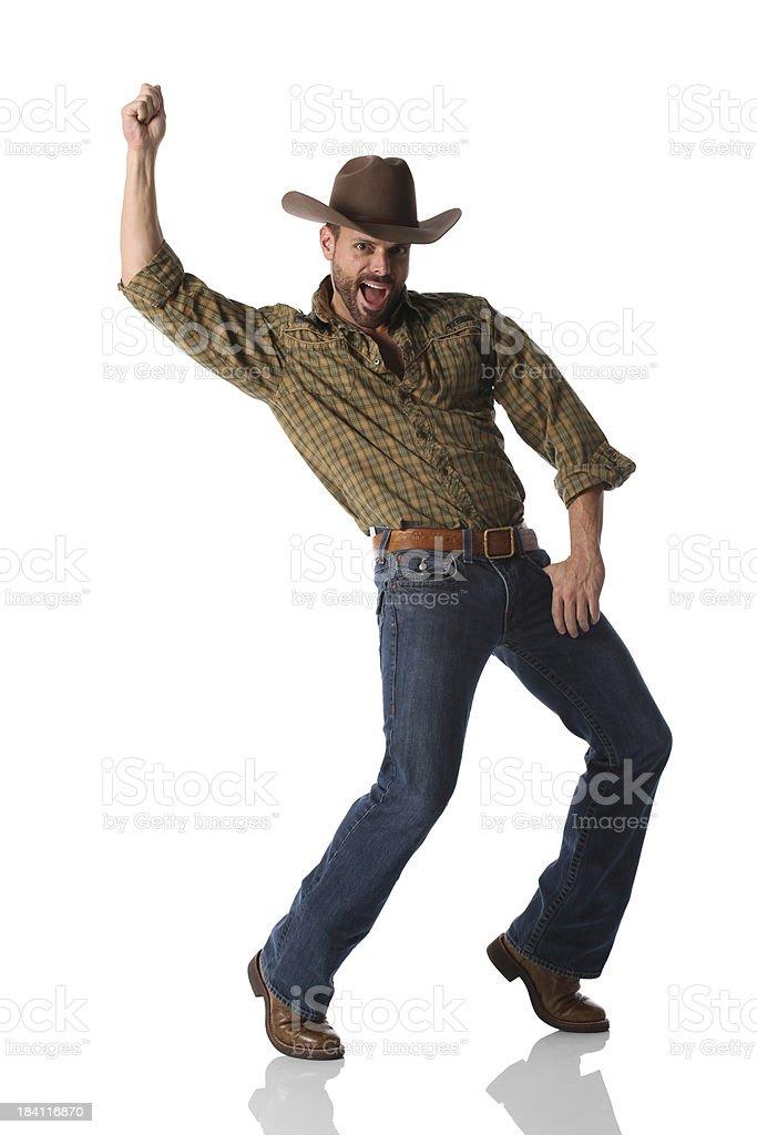 Cowboy dancing royalty-free stock photo
