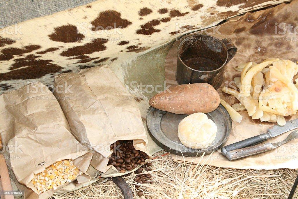 Cowboy dinner stock photo