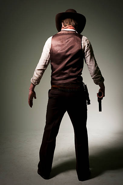 Cowboy Gunslinger stock photo
