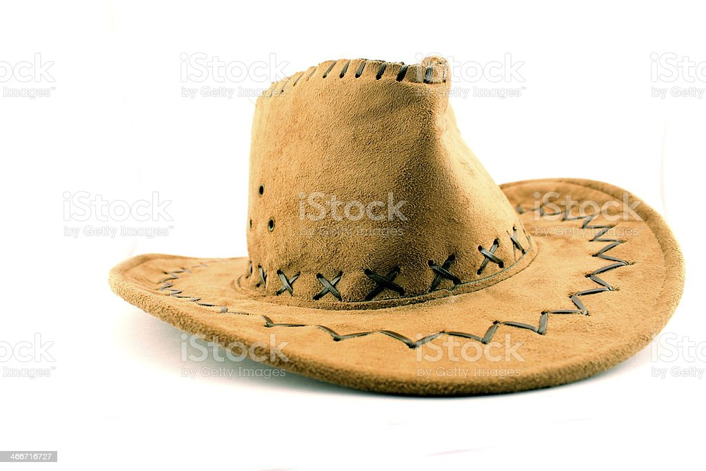 Cowboy Hat isolated on white stock photo