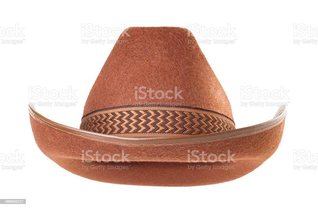 cowboy hat  on white background stock photo