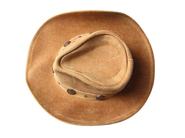 cc3a8f8a7e7d5 cowboy hat top view stock photo