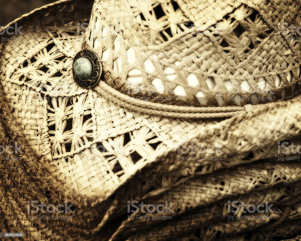 cowboy hats for sale royalty-free stock photo