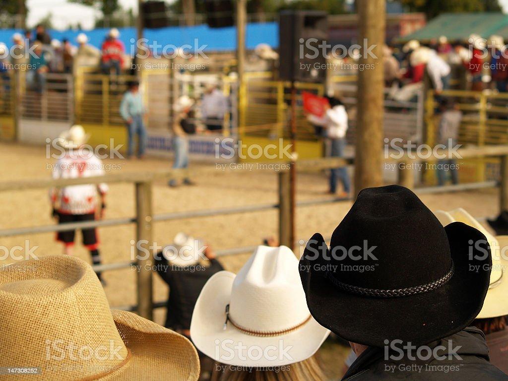 Sombrero de vaquero de rodeo - foto de stock