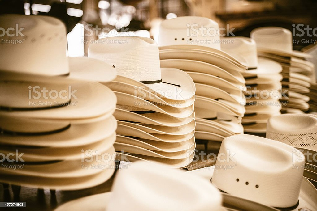 Cowboy Hats stock photo