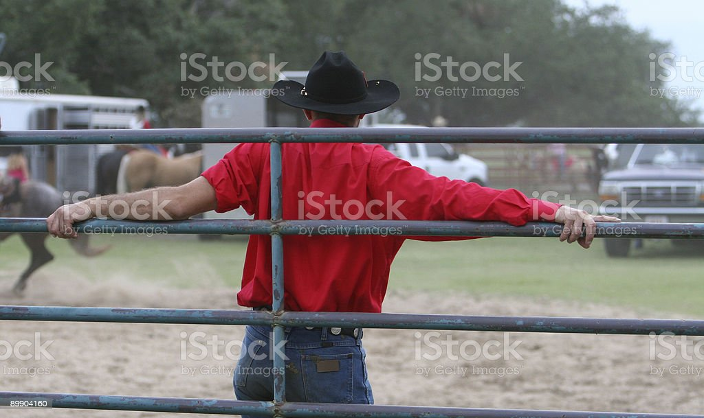 Cowboy in Red royalty-free stock photo