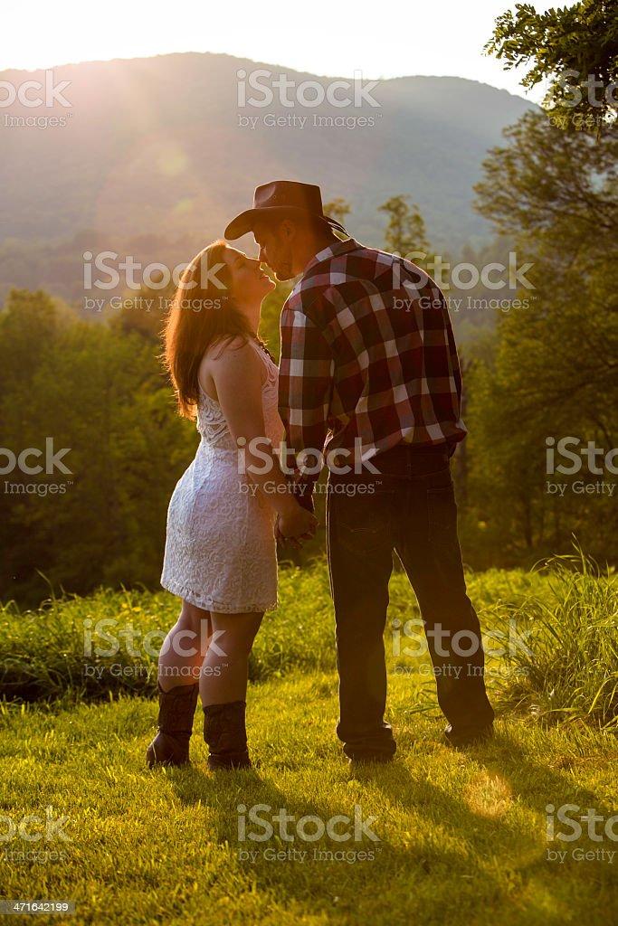 Cowboy Kiss royalty-free stock photo