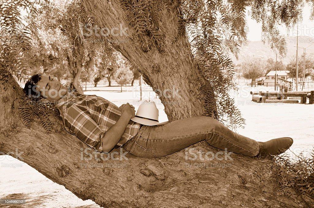 Cowboy Nap royalty-free stock photo
